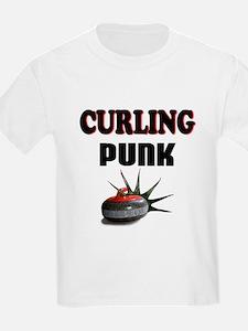 Curling Punk Kids T-Shirt