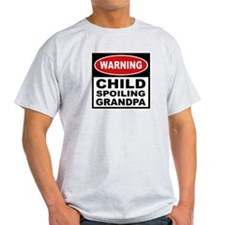 Child Spoiling Grandpa Ash Grey T-Shirt