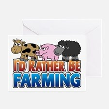 Farmville Inspired 3 animals Greeting Card