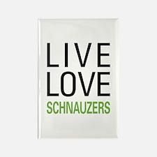Live Love Schnauzers Rectangle Magnet