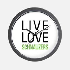 Live Love Schnauzers Wall Clock