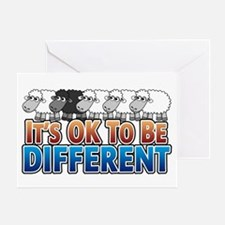 Black Sheep - Be Different Greeting Card