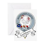 Cockburn Clan Badge Greeting Cards (Pk of 10)