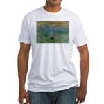 Claude Monet Torture Art Fitted T-Shirt