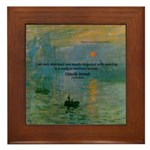 Claude Monet Torture Art Framed Tile