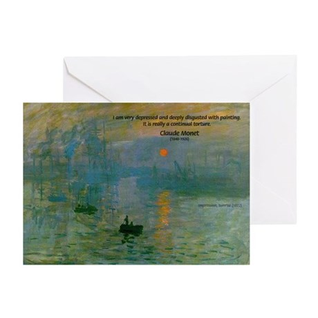 Claude Monet Torture Art Greeting Cards (Package o