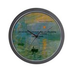 Claude Monet Torture Art Wall Clock