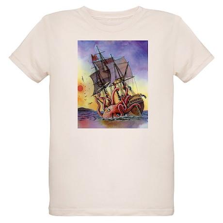 Kraken Attack Organic Kids T-Shirt
