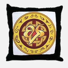 """Mourning"" Rune - Throw Pillow"