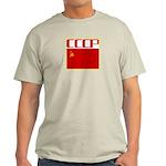 CCCP Soviet Banner Ash Grey T-Shirt