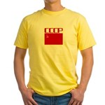 CCCP Soviet Banner Yellow T-Shirt