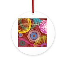 Christmas hippie Ornament (Round)