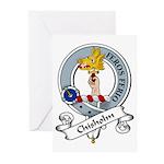 Chisholm Clan Badge Greeting Cards (Pk of 10)