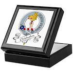 Chisholm Clan Badge Keepsake Box
