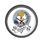 Chisholm Clan Badge Wall Clock