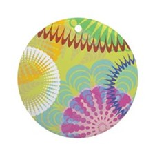 Funny Christmas hippie Ornament (Round)