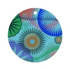 Cool Christmas hippie Ornament (Round)
