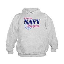Proud Navy Daughter Hoodie
