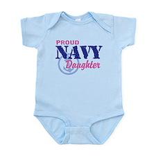 Proud Navy Daughter Infant Bodysuit