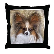 """Butterfly Ears"" Papillon Throw Pillow"