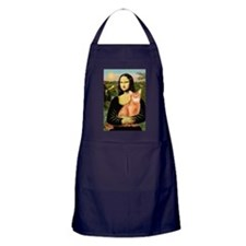 Mona's Red Abyssinian Apron (dark)