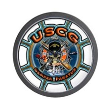 USCG Coast Guard Skull Wall Clock