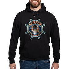 USCG COAST GUARD SKULL Hoodie