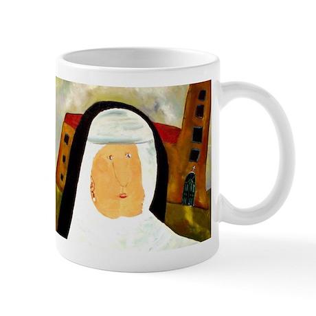 Fun Catholic Folk Art Nun Mugs
