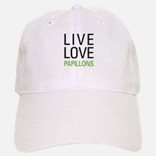 Live Love Papillons Baseball Baseball Cap