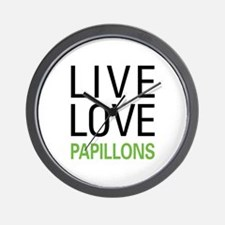 Live Love Papillons Wall Clock
