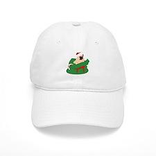 Pug in Present Bag Baseball Cap