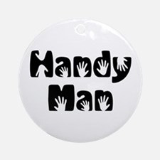 Handy Man Ornament (Round)