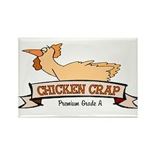 Chicken Crap Rectangle Magnet