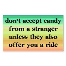 Accept Candy from Strangers Decal