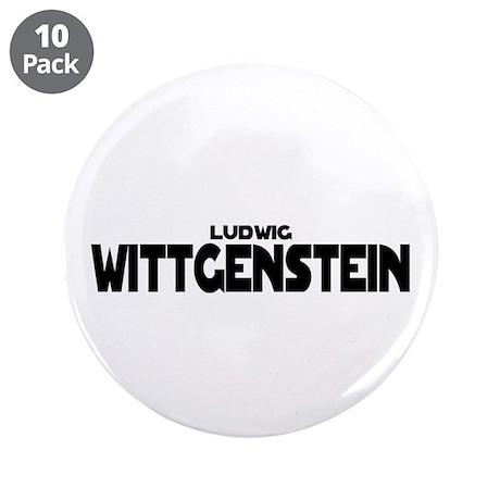 """Ludwig Wittgenstein 3.5"""" Button (10 pack)"""