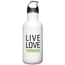 Live Love Yorkies Water Bottle