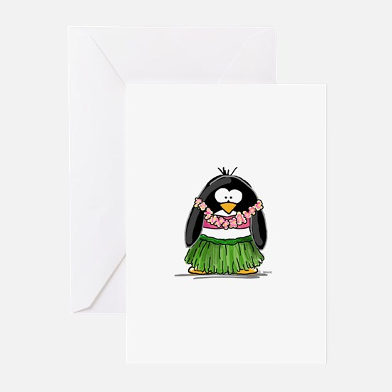 Hula Penguin Greeting Cards (Pk of 10)