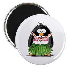 Hula Penguin Magnet