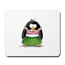 Hula Penguin Mousepad