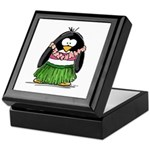 Hula Penguin Keepsake Box