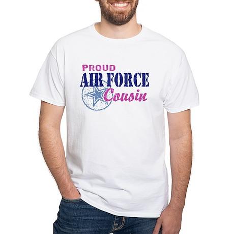 Proud Air Force Cousin White T-Shirt