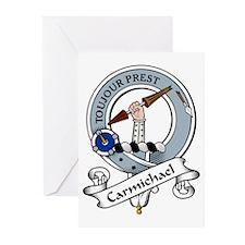 Carmichael Clan Badge Greeting Cards (Pk of 10