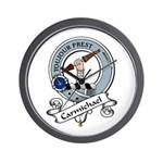 Carmichael Clan Badge Wall Clock