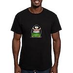 Hula Penguin Men's Fitted T-Shirt (dark)