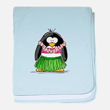 Hula Penguin baby blanket