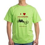 Green T-Shirt - I love recumbents