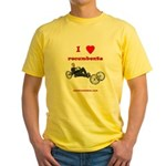 Yellow T-Shirt - I love recumbents