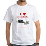 White T-Shirt - I love recumbents
