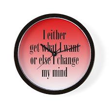 Change My Mind Wall Clock
