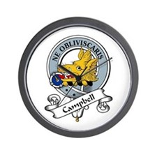 Campbell Clan Badge Wall Clock